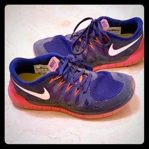 Nike Tennies Pink Purple Swoosh Fun Cute Sneakers
